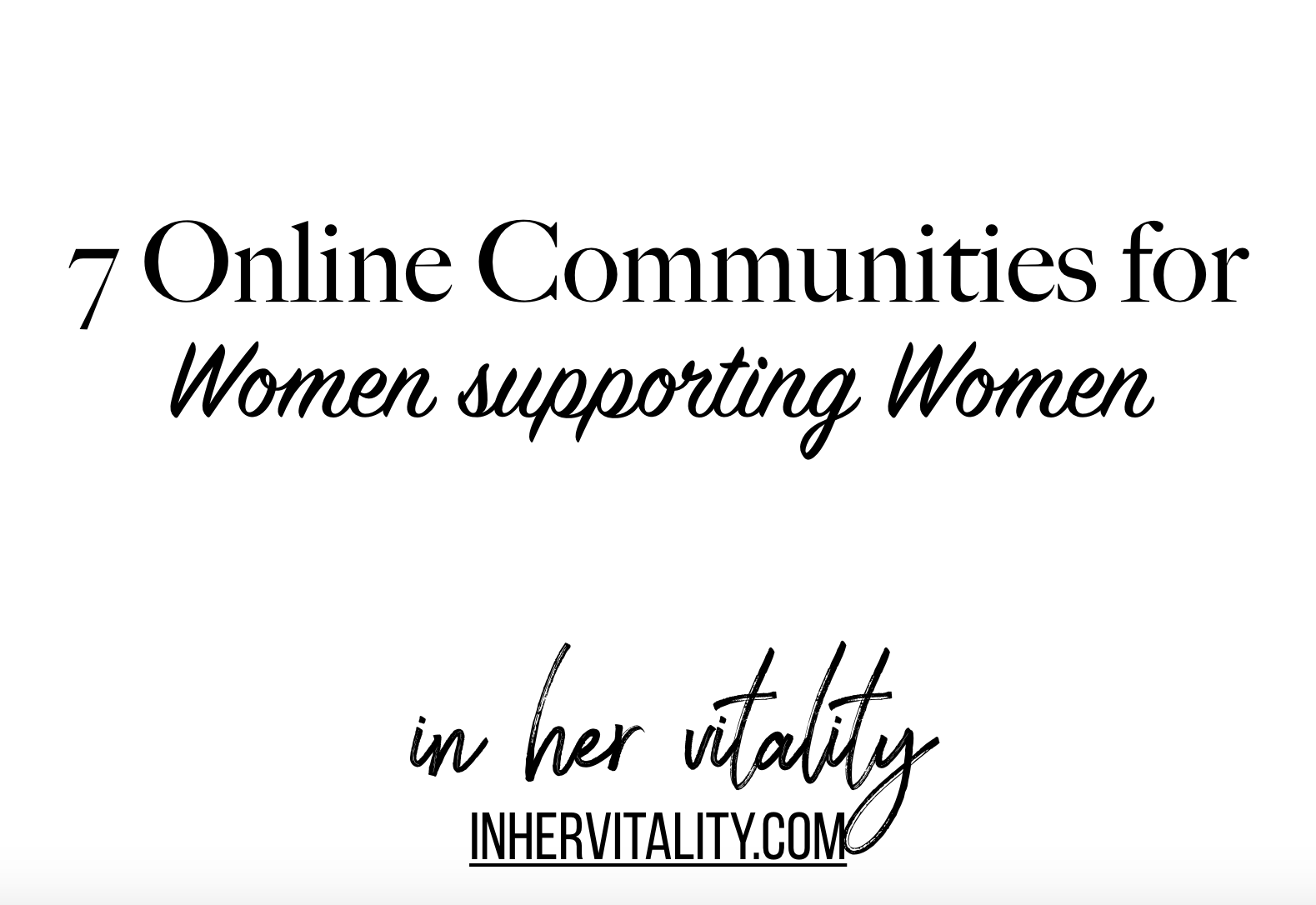 Feature image for online communities for women supporting women